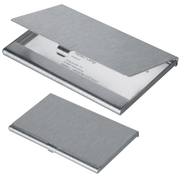 Visitenkartenetui aus Aluminium